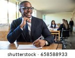 attentive enthusiastic new hire ... | Shutterstock . vector #658588933