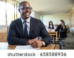 african american business man... | Shutterstock . vector #658588936