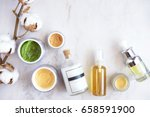 natural skincare cosmetic... | Shutterstock . vector #658591900