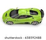 fresh green modern sports car   ... | Shutterstock . vector #658592488