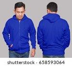 blank sweatshirt mock up  front ... | Shutterstock . vector #658593064