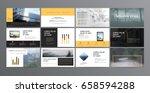 original presentation templates.... | Shutterstock .eps vector #658594288