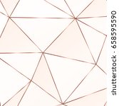 copper metallic polygonal... | Shutterstock .eps vector #658595590