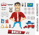 character driver. cartoon funny ... | Shutterstock .eps vector #658600540