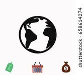 world icon vector    vector eps ... | Shutterstock .eps vector #658614274