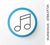 music note icon symbol. premium ... | Shutterstock .eps vector #658619734