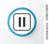 pause music icon symbol....