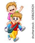vector illustration of two... | Shutterstock .eps vector #658620424