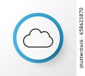 overcast icon symbol. premium... | Shutterstock .eps vector #658621870