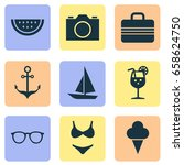 sun icons set. collection of... | Shutterstock .eps vector #658624750