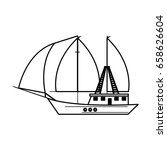 boat tourist illustration | Shutterstock .eps vector #658626604