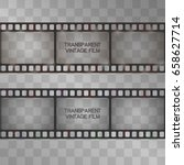 strip film vector in sepia and... | Shutterstock .eps vector #658627714