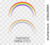 vector rainbow arc set for... | Shutterstock .eps vector #658628884