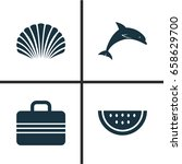 season icons set. collection of ... | Shutterstock .eps vector #658629700