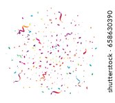 colorful explosion confetti and ... | Shutterstock .eps vector #658630390