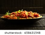 traditional cooking  wok stir... | Shutterstock . vector #658631548