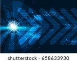 vector digital technology...   Shutterstock .eps vector #658633930