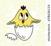 Cute Cartoon Chicken. Vector...