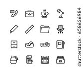office business icon set | Shutterstock .eps vector #658636984