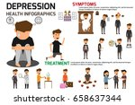 depression signs and symptoms...   Shutterstock .eps vector #658637344