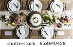 reserved service elegance... | Shutterstock . vector #658640428