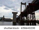 bridge construction | Shutterstock . vector #658643230