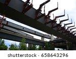 bridge construction | Shutterstock . vector #658643296