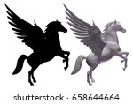 Pegasus Horse With Wings Vecto...