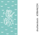 vector greeting cards for... | Shutterstock .eps vector #658646224