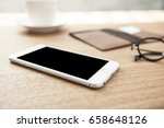 a smart phone with wallet ... | Shutterstock . vector #658648126