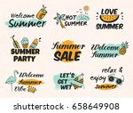 set of vintage hand drawn... | Shutterstock .eps vector #658649908