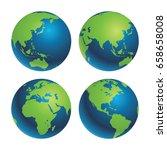 earth globe vector | Shutterstock .eps vector #658658008