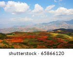 Field landscapes in Yunnan Province, southwest of China - stock photo