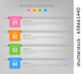 infographic template of four...   Shutterstock .eps vector #658661440