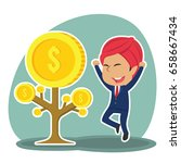 indian businessman happy his... | Shutterstock .eps vector #658667434