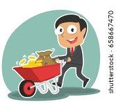 Indian Businessman Pushing...