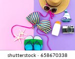 summer fashion woman swimsuit... | Shutterstock . vector #658670338
