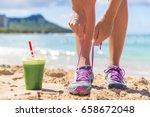 green smoothie runner fitness... | Shutterstock . vector #658672048