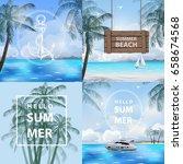 set of banners summer  sea ...   Shutterstock .eps vector #658674568