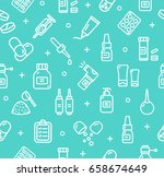 pills related medical pattern... | Shutterstock .eps vector #658674649