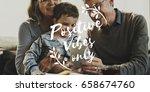 enjoy positive lifestyle word... | Shutterstock . vector #658674760