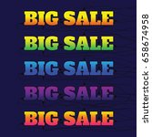 big sale made by neon type ... | Shutterstock .eps vector #658674958