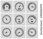 meter icons set. speedometer... | Shutterstock .eps vector #658686049