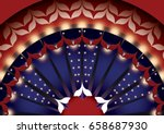 pattern in the style of the... | Shutterstock .eps vector #658687930