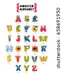 poster of monster alphabet.... | Shutterstock .eps vector #658691950