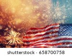 celebrating independence day.... | Shutterstock . vector #658700758