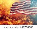celebrating independence day.... | Shutterstock . vector #658700800