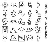 profile icons set. set of 25... | Shutterstock .eps vector #658702780