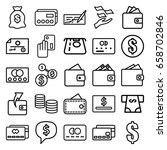pay icons set. set of 25 pay... | Shutterstock .eps vector #658702846