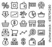 market icons set. set of 25... | Shutterstock .eps vector #658704280